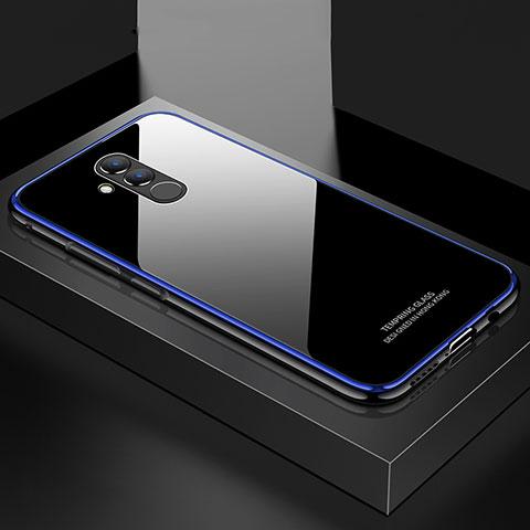 Huawei Mate 20 Lite用ケース 高級感 手触り良い アルミメタル 製の金属製 バンパー 鏡面 カバー M02 ファーウェイ ネイビー