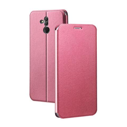 Huawei Mate 20 Lite用手帳型 レザーケース スタンド カバー L03 ファーウェイ レッド