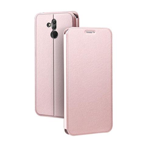 Huawei Mate 20 Lite用手帳型 レザーケース スタンド カバー L03 ファーウェイ ローズゴールド