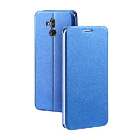 Huawei Mate 20 Lite用手帳型 レザーケース スタンド カバー L03 ファーウェイ ネイビー