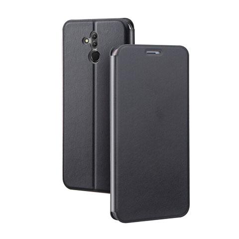 Huawei Mate 20 Lite用手帳型 レザーケース スタンド カバー L03 ファーウェイ ブラック