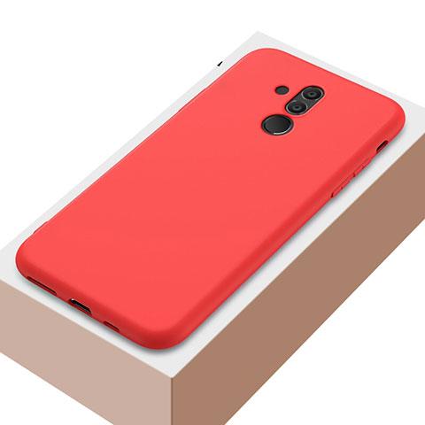 Huawei Mate 20 Lite用極薄ソフトケース シリコンケース 耐衝撃 全面保護 S04 ファーウェイ レッド
