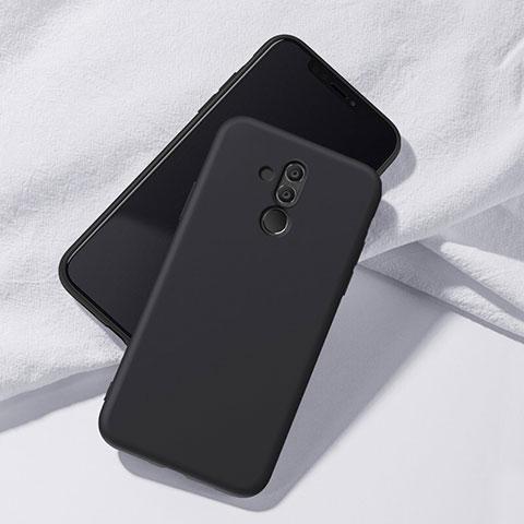 Huawei Mate 20 Lite用極薄ソフトケース シリコンケース 耐衝撃 全面保護 S04 ファーウェイ ブラック