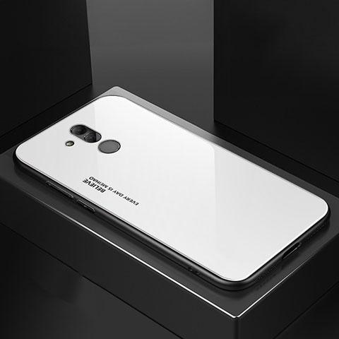 Huawei Mate 20 Lite用ハイブリットバンパーケース プラスチック 鏡面 カバー M02 ファーウェイ ホワイト
