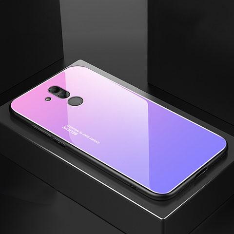 Huawei Mate 20 Lite用ハイブリットバンパーケース プラスチック 鏡面 カバー M02 ファーウェイ パープル