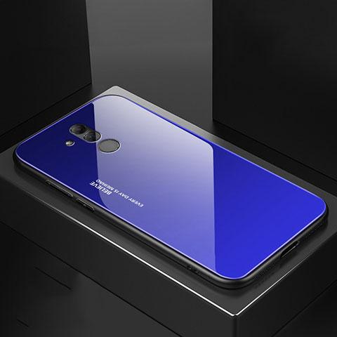 Huawei Mate 20 Lite用ハイブリットバンパーケース プラスチック 鏡面 カバー M02 ファーウェイ ネイビー