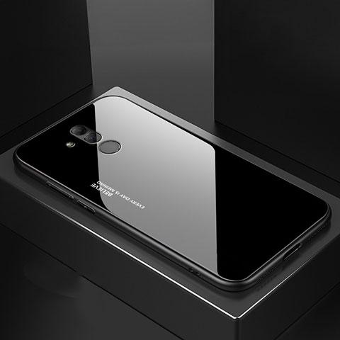 Huawei Mate 20 Lite用ハイブリットバンパーケース プラスチック 鏡面 カバー M02 ファーウェイ ブラック