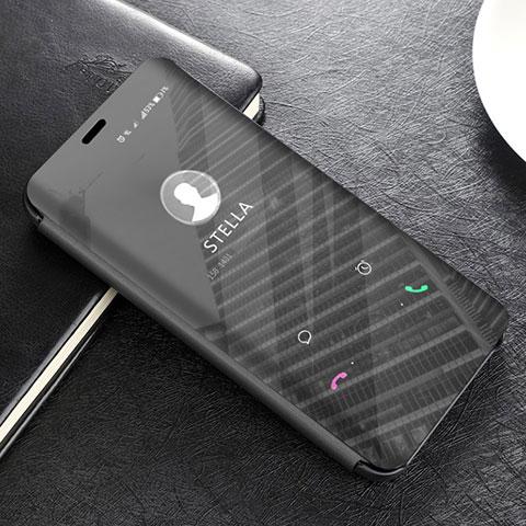 Huawei Mate 20 Lite用手帳型 レザーケース スタンド 鏡面 カバー L02 ファーウェイ ブラック