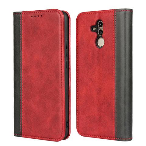 Huawei Mate 20 Lite用手帳型 レザーケース スタンド カバー L04 ファーウェイ レッド