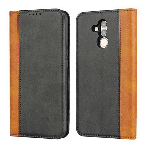 Huawei Mate 20 Lite用手帳型 レザーケース スタンド カバー L04 ファーウェイ ブラック