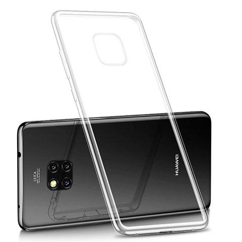 Huawei Mate 20 Pro用極薄ソフトケース シリコンケース 耐衝撃 全面保護 クリア透明 H02 ファーウェイ クリア