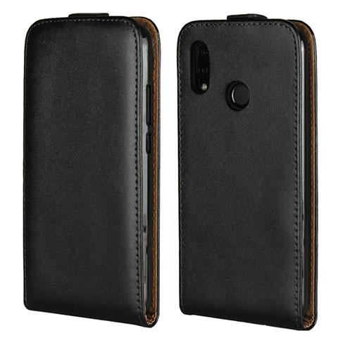 Huawei Nova 3e用フリップ レザーケース スタンド ファーウェイ ブラック