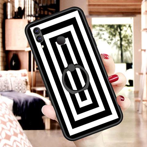 Huawei Nova 3e用シリコンケース ソフトタッチラバー バタフライ パターン S07 ファーウェイ マルチカラー