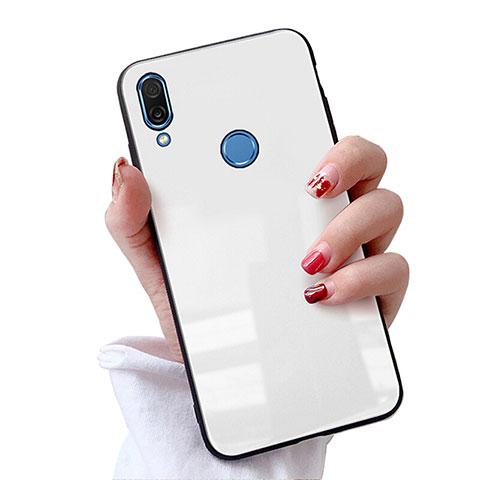 Huawei Nova 3e用ハイブリットバンパーケース プラスチック 鏡面 カバー M02 ファーウェイ ホワイト