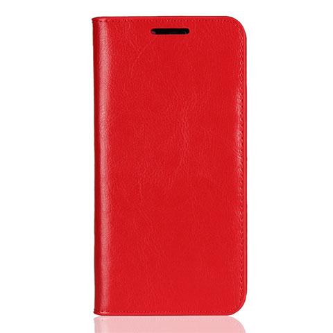 Huawei Nova 3e用手帳型 レザーケース スタンド カバー L05 ファーウェイ レッド