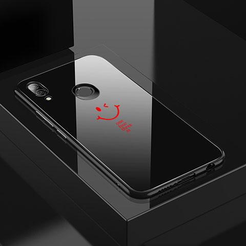 Huawei Nova 3e用ハイブリットバンパーケース プラスチック パターン 鏡面 カバー S01 ファーウェイ レッド・ブラック