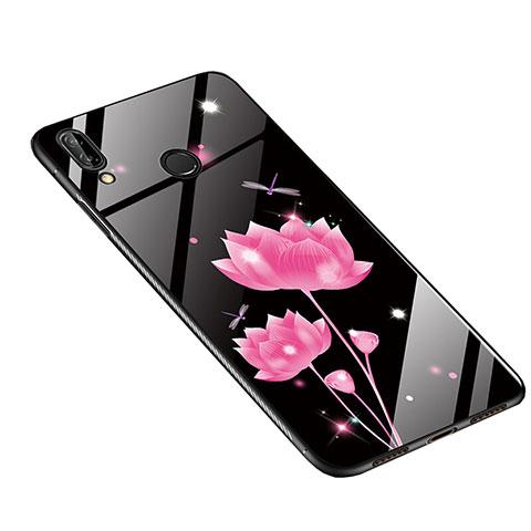 Huawei Nova 3e用ハイブリットバンパーケース プラスチック 鏡面 花 カバー S01 ファーウェイ マルチカラー
