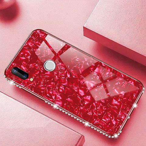 Huawei Nova 3e用ハイブリットバンパーケース プラスチック 鏡面 カバー M01 ファーウェイ レッド
