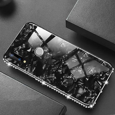 Huawei Nova 3e用ハイブリットバンパーケース プラスチック 鏡面 カバー M01 ファーウェイ ブラック