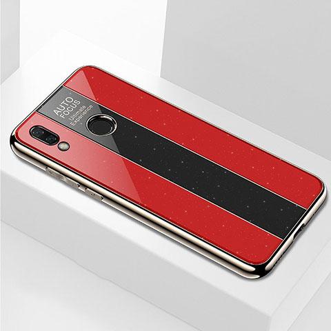 Huawei Nova 3e用ハイブリットバンパーケース プラスチック 鏡面 カバー M03 ファーウェイ レッド