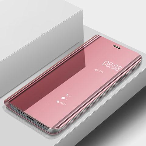 Huawei Nova 3e用手帳型 レザーケース スタンド 鏡面 カバー ファーウェイ ローズゴールド
