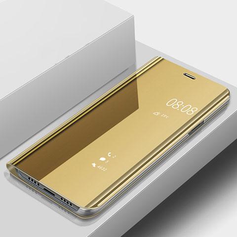 Huawei Nova 3e用手帳型 レザーケース スタンド 鏡面 カバー ファーウェイ ゴールド