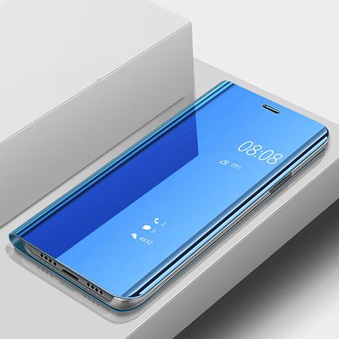 Huawei Nova 3e用手帳型 レザーケース スタンド 鏡面 カバー ファーウェイ ネイビー