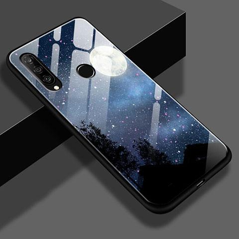 Huawei Nova 4e用ハイブリットバンパーケース プラスチック 星空 鏡面 ファーウェイ ブラック
