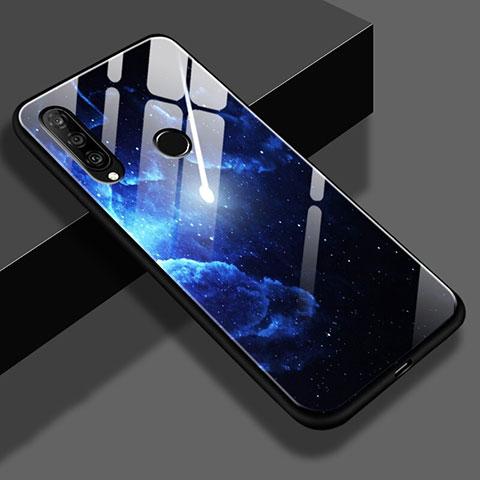 Huawei Nova 4e用ハイブリットバンパーケース プラスチック 星空 鏡面 ファーウェイ ネイビー