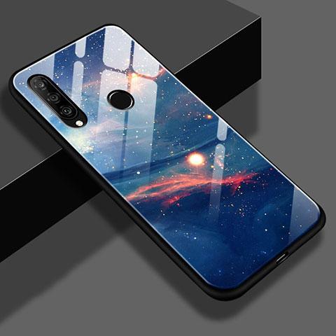 Huawei Nova 4e用ハイブリットバンパーケース プラスチック 星空 鏡面 S02 ファーウェイ ネイビー