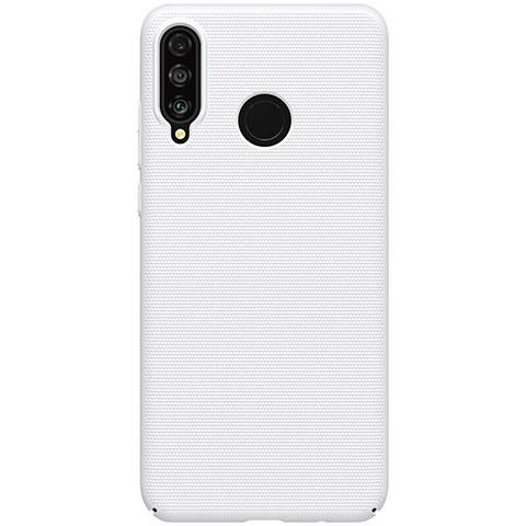 Huawei Nova 4e用ハードケース プラスチック 質感もマット M02 ファーウェイ ホワイト