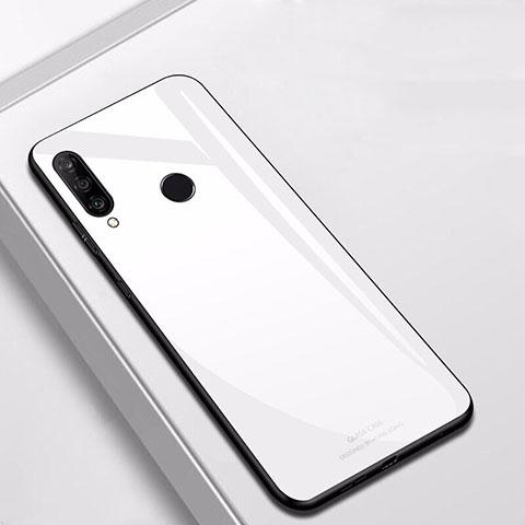 Huawei Nova 4e用ハイブリットバンパーケース プラスチック 鏡面 カバー ファーウェイ ホワイト