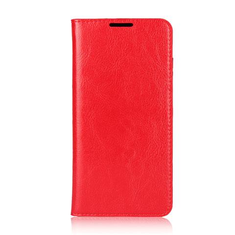 Huawei Nova 4e用手帳型 レザーケース スタンド カバー L05 ファーウェイ レッド