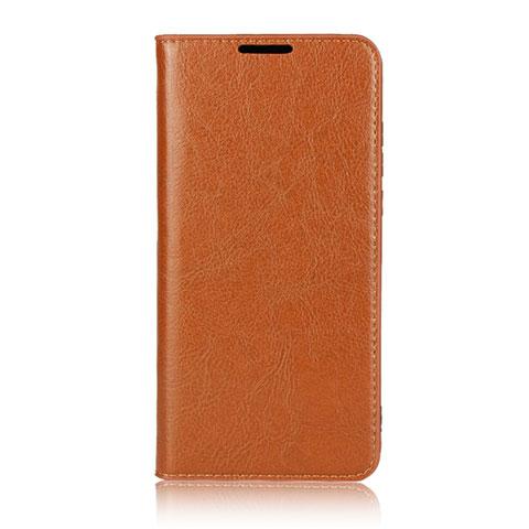 Huawei Nova 4e用手帳型 レザーケース スタンド カバー L05 ファーウェイ オレンジ
