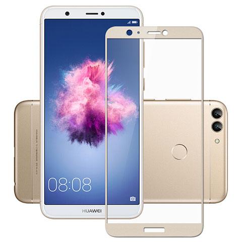 Huawei P Smart用強化ガラス フル液晶保護フィルム ファーウェイ ゴールド
