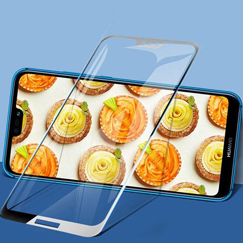 Huawei P20 Lite用強化ガラス フル液晶保護フィルム F02 ファーウェイ ブラック