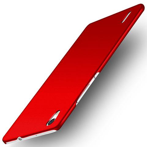 Huawei P7 Dual SIM用ハードケース プラスチック 質感もマット M02 ファーウェイ レッド