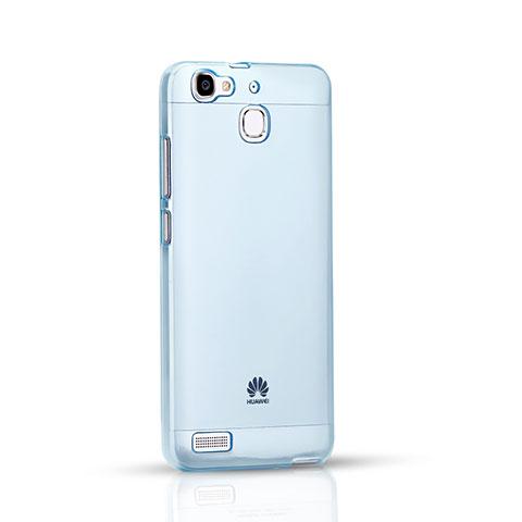 Huawei P8 Lite Smart用極薄ソフトケース シリコンケース 耐衝撃 全面保護 クリア透明 ファーウェイ ネイビー