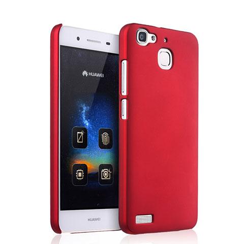 Huawei P8 Lite Smart用ハードケース プラスチック 質感もマット ファーウェイ レッド