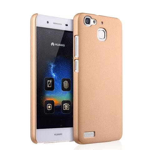 Huawei P8 Lite Smart用ハードケース プラスチック 質感もマット ファーウェイ ゴールド