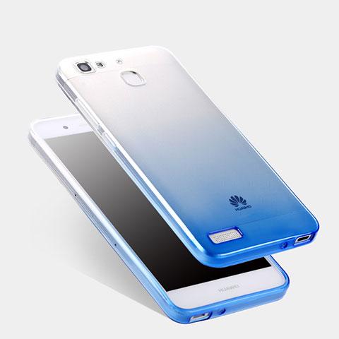 Huawei P8 Lite Smart用極薄ソフトケース グラデーション 勾配色 クリア透明 Q01 ファーウェイ ネイビー