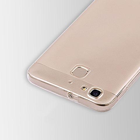 Huawei P8 Lite Smart用極薄ソフトケース シリコンケース 耐衝撃 全面保護 クリア透明 T01 ファーウェイ クリア