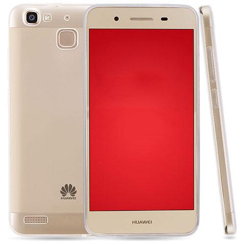 Huawei P8 Lite Smart用極薄ソフトケース シリコンケース 耐衝撃 全面保護 クリア透明 T03 ファーウェイ クリア