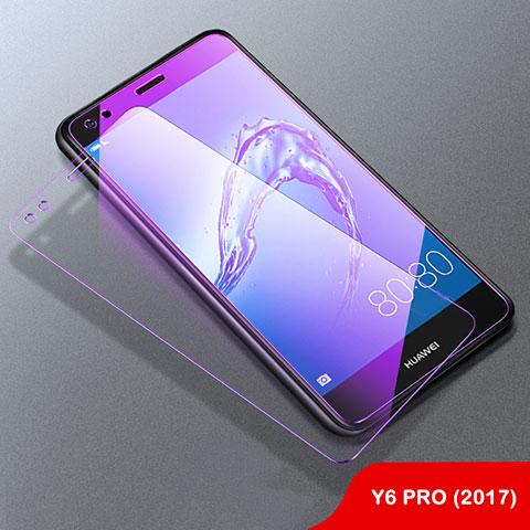 Huawei Y6 Pro (2017)用アンチグレア ブルーライト 強化ガラス 液晶保護フィルム B01 ファーウェイ クリア