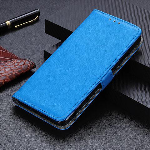 Motorola Moto G9 Plus用手帳型 レザーケース スタンド カバー L03 モトローラ ブルー