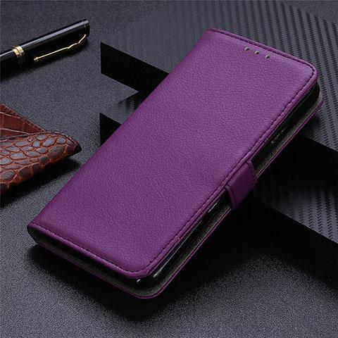 Motorola Moto G9 Plus用手帳型 レザーケース スタンド カバー L03 モトローラ パープル