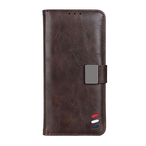 Motorola Moto G9 Plus用手帳型 レザーケース スタンド カバー L04 モトローラ ブラウン