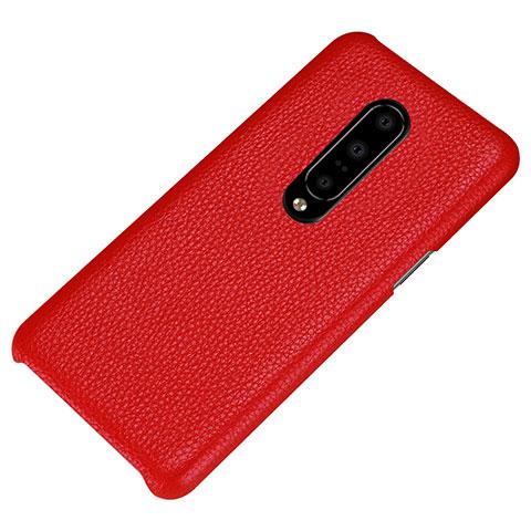 OnePlus 7 Pro用ケース 高級感 手触り良いレザー柄 S01 OnePlus レッド