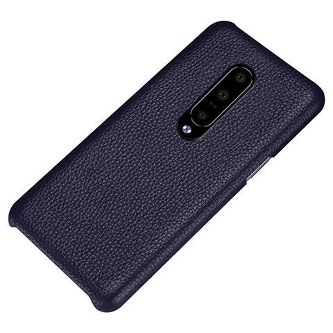 OnePlus 7 Pro用ケース 高級感 手触り良いレザー柄 S01 OnePlus ネイビー