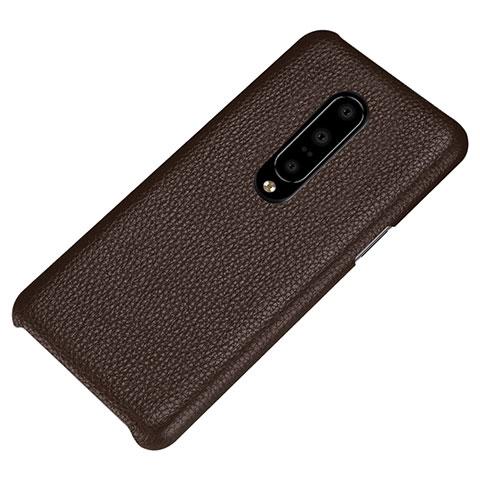 OnePlus 7 Pro用ケース 高級感 手触り良いレザー柄 S01 OnePlus ブラウン